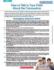 How to Talk to Your Child About Coronavirus Cover