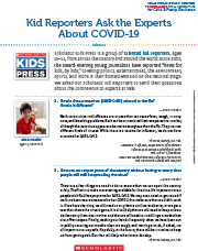 Kid Reporters Ask The Experts About COVID-19 Cover