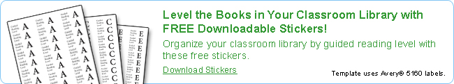 Level the Books in Your Classromm Library with FREE Downloadable Stickers!