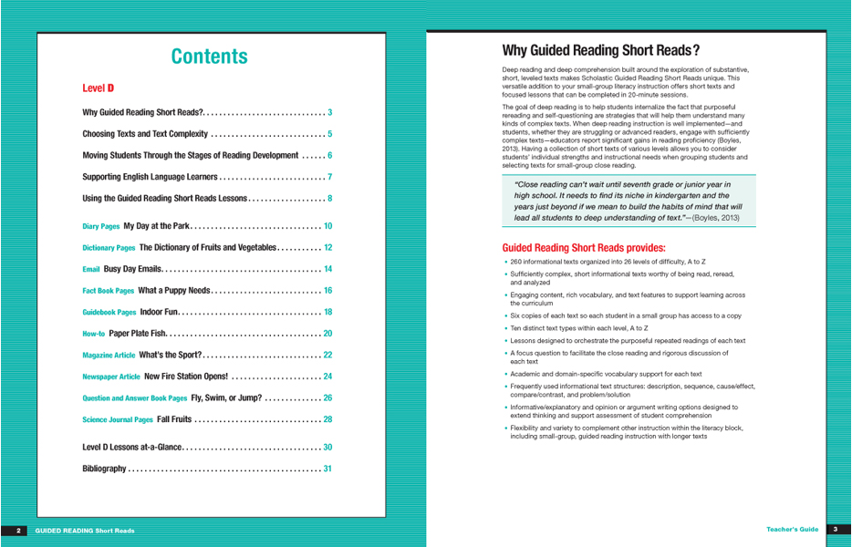 Guided reading short reads scholastic guided reading program look inside ibookread ePUb