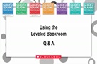 """Guided Reading Toolkit Preview:  Using Leveled Bookroom"" Guided Reading QA: Using Leveled Bookroom"